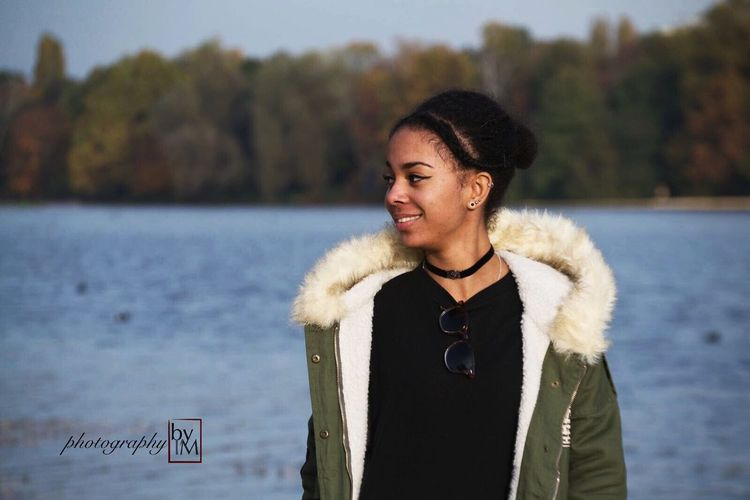 just smile // Waist Up Warm Clothing Focus On Foreground Real People Fur One Person Lifestyles Leisure Activity Winter Day Outdoors Cold Temperature Nature Water Close-up Young Adult Autumn Fall Fashion Standing Sunglasses Young Women Fashion Photography Model Modeling