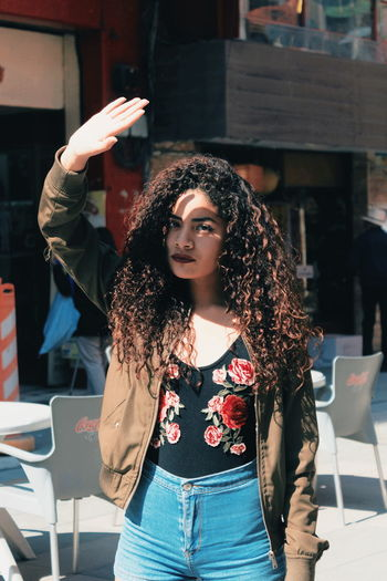 First Eyeem Photo EyeEm Best Shots EyeEmNewHere EyeEm Gallery EyeEm Selects Eyem Best Shots Portrait Of A Woman Urban Streetphotography Street Portrait Young Women City Beautiful Woman Looking At Camera Beauty Women Front View Long Hair Posing Curly Hair The Portraitist - 2018 EyeEm Awards