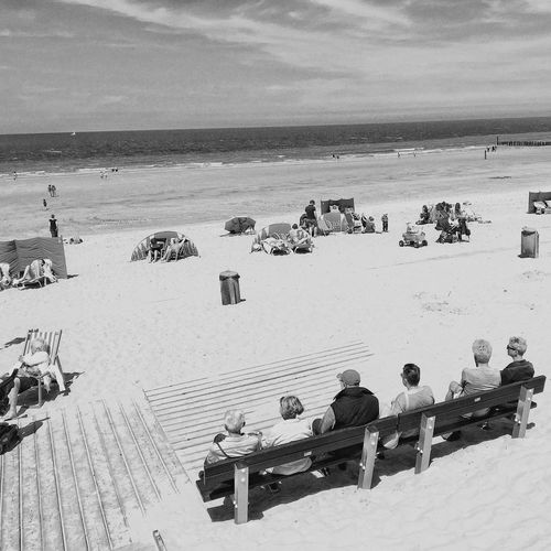 People Of The Oceans Beach Beachphotography Sea Sand Domburg  Feel The Journey Original Experiences People Together By August 3 2016 Eyeemphoto My Year My View Black And White Friday Summer Exploratorium