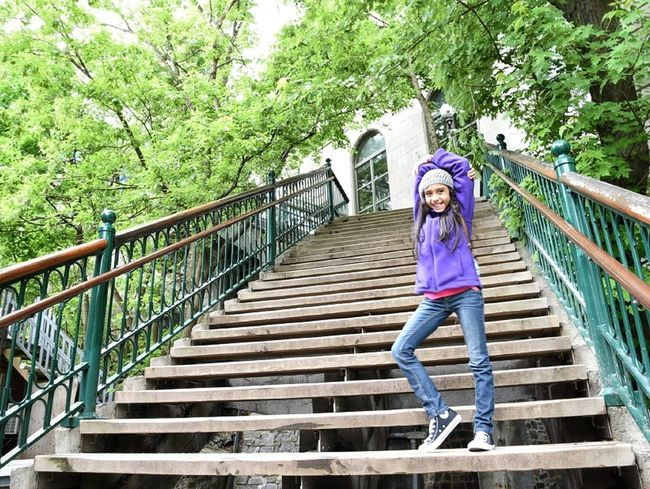 Going Up! Outdoors Girls One Person Childhood Happiness Day People Lifestyles Child Nature Smiling Full Length Adult Tree Young Adult