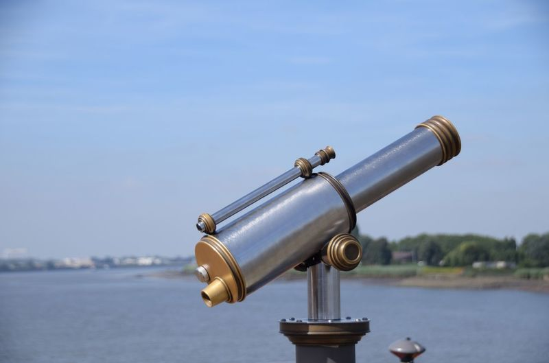 Antwerpen Sky Water Coin Operated Nature Day Binoculars No People Focus On Foreground Optical Instrument Outdoors