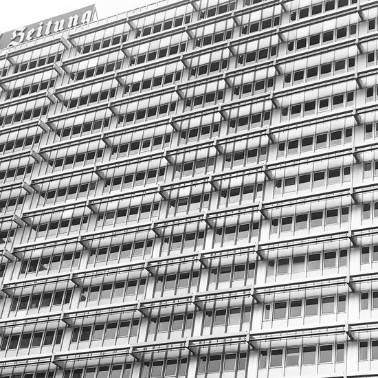 Low Angle View Day Metal Building Exterior No People Backgrounds Full Frame Pattern Architecture Built Structure Outdoors Close-up Architecture Blackandwhite Bw Berlin Geometric Shape Lines Patterns Typography