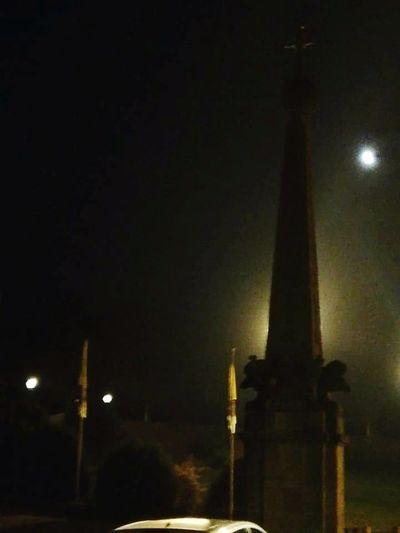 Foggy Weather Tall - High Street Light Moon Full Moon