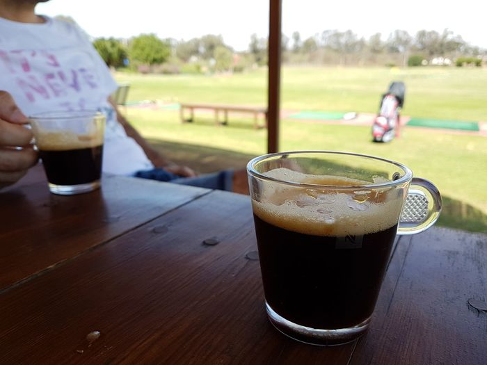 Drink Drinking Glass Refreshment Food And Drink Day Table Outdoors Tree Grass One Man Only Adult People Freshness Only Men Water One Person Coffee Nespresso Niscafè☕️
