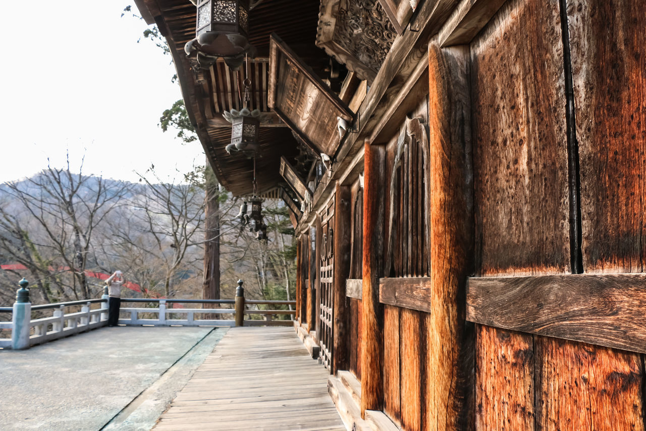 architecture, built structure, wood - material, building exterior, no people, day, outdoors, winter, cold temperature, snow, nature