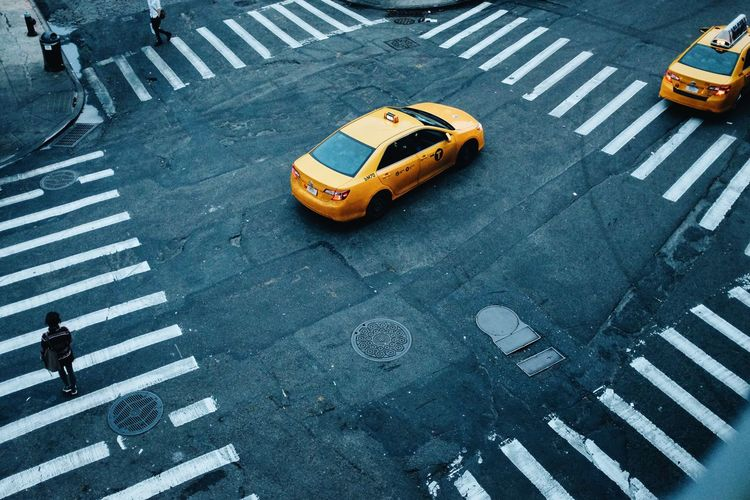 A Bird's Eye View you've been framed NYC Taxi Yellow Cab Framed Paint The Town Yellow