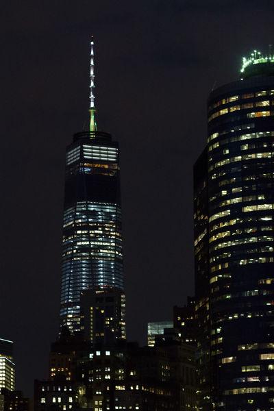 New York At Night Freedom Tower Night