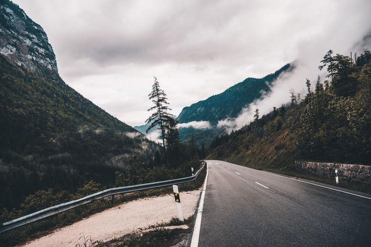 Alpin Street Mountain Outdoors Cloud - Sky Nature Day Landscape Travel Hintergrund Bavarian Landscape Bavaria Berchtesgaden Alps Germany Forest Fog Mist Your Ticket To Europe The Week On EyeEm