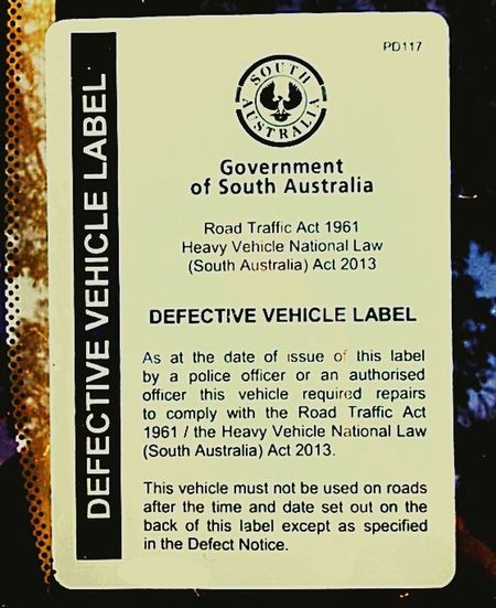 Defective Defected Defects Defect Yellow Canary Defective Vehicle Sticker DefectiveVehicles Black&Yellow Labels Notice Stickers VehicleDefectLabel DefectiveVehicle Defective Vehicles DefectiveVehicleLabels DefectStickers Defect Stickers DefectNotice Defect Notice Vehicles Regulations Bullshit Notices