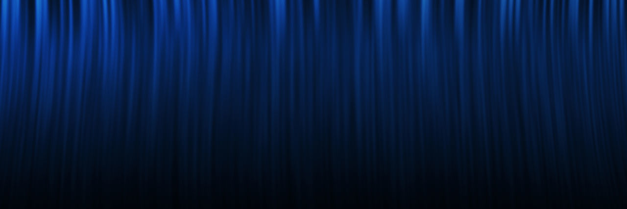 Abstract image of blue curtain