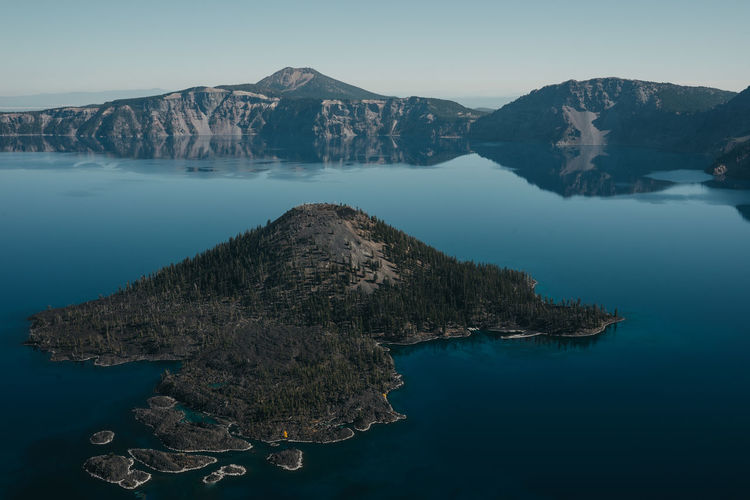 Crater Lake Crater Lake National Park Oregon Water Lake View Lake Tranquil Scene Scenics - Nature Mountain Tranquility Beauty In Nature Reflection Sky Nature Waterfront Non-urban Scene Mountain Range Idyllic Travel Destinations No People Day Rock Outdoors