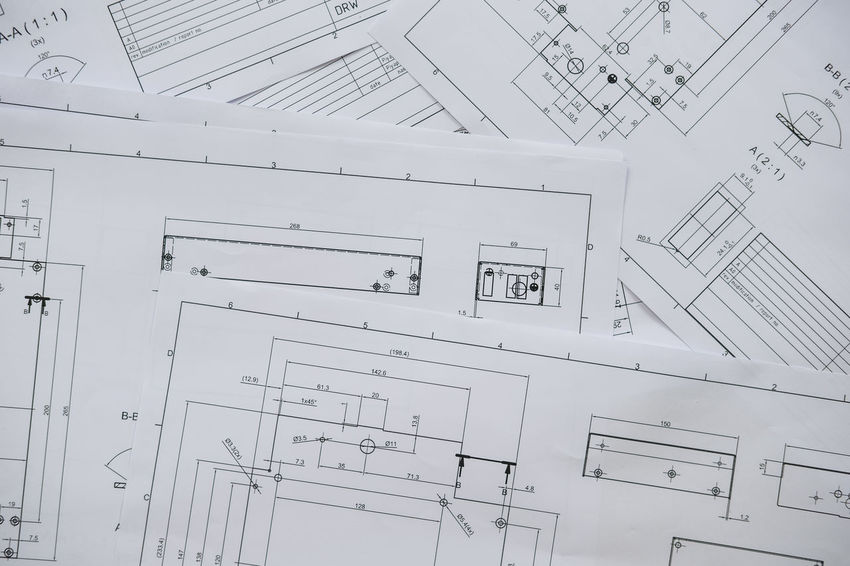 Architecture, engineering plans and drawing equipment for a new building Accessibility Accuracy ARCHITECT Architecture Backgrounds Blueprint Built Structure Cable Complexity Design Diagram Electricity  Engineering Home Interior House Indoors  Industry Occupation Paper Paperwork Pattern Plan Planning Sketch Working