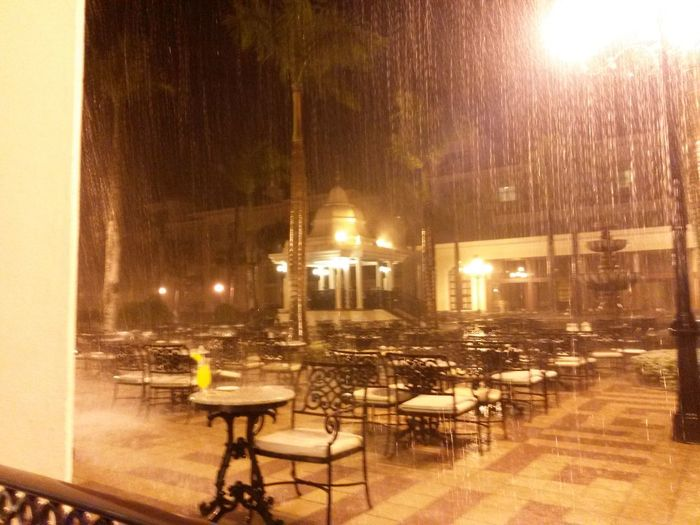 Bajo la lluvia No People Illuminated Table Rainy Days Chair