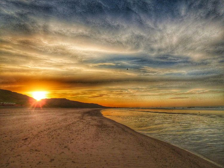 Sunset Scenics Landscape Nature Dramatic Sky Beauty In Nature Sky Cloud - Sky Outdoors Tranquility Tranquil Scene Sand No People Arid Climate Rural Scene Water Desert Day Autumn EyeEm Best Shots EyeEm Selects Photography Sea Horizon Tranquility