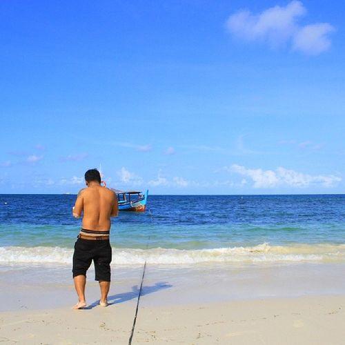 Vscocam Beach Belitung Sky blue