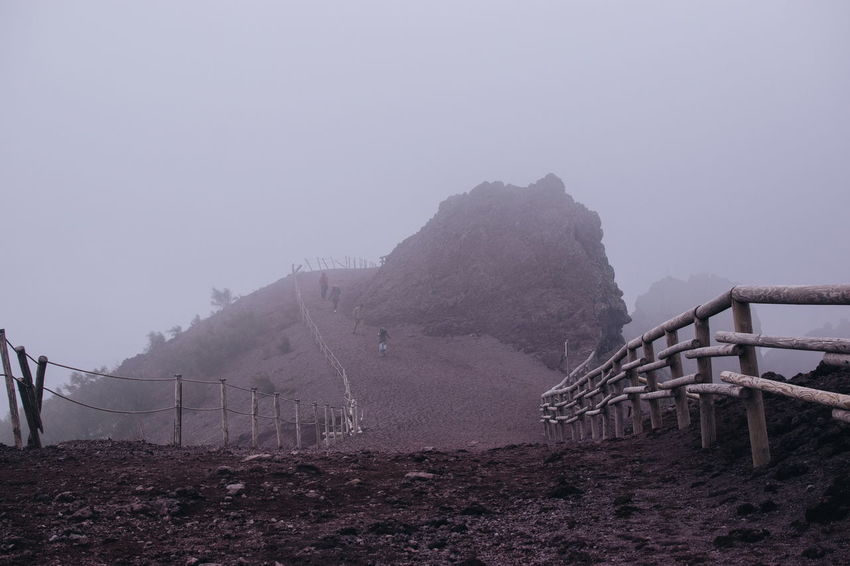 Nature Sky Water Outdoors Day Fog Environment Motion Fence Volcano Volcanic Landscape Vesuvio Italy Hiking Cloud Mountain Napoli Go Higher