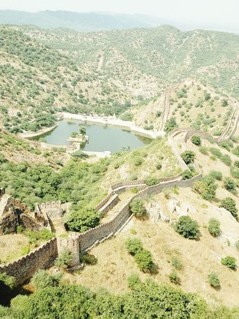 Nature Aerial View Landscape Beauty In Nature Backgrounds Sky Day Scenics No People Outdoors Freshness Tree Amer jaigarh fort Growth Pond Water Heritage Photography Fort Rajasthan Jaipur Jaigarh Fort Jaipur India Banna Lovely Noontime