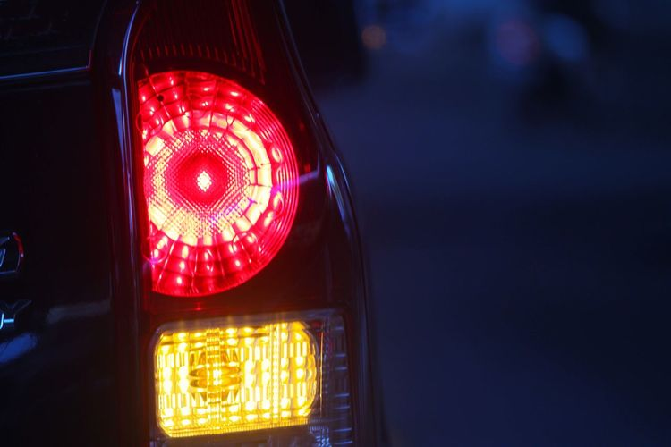Close-up of tail light