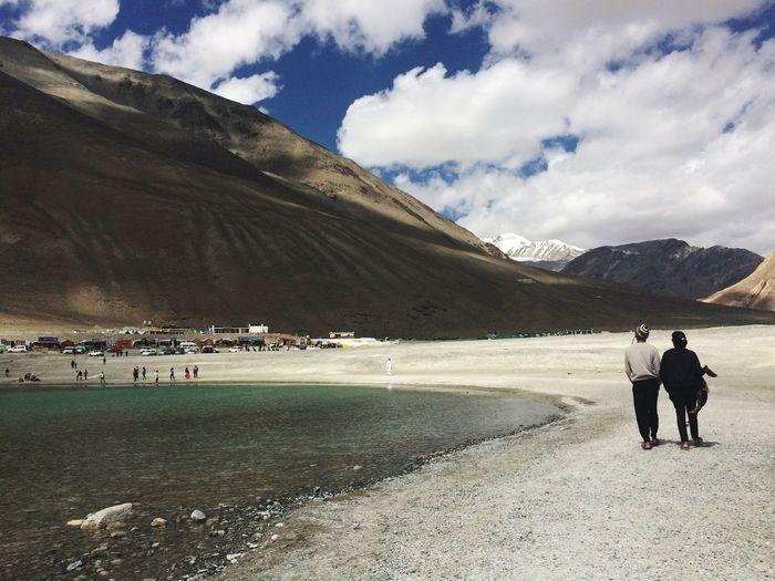 Walk by the Pangong Tso Lake Couple Couplegoals Pangonglake Pangong Brother & Sister Lake Leh Ladakh India Indiaborderside Indiaborder China Tibet