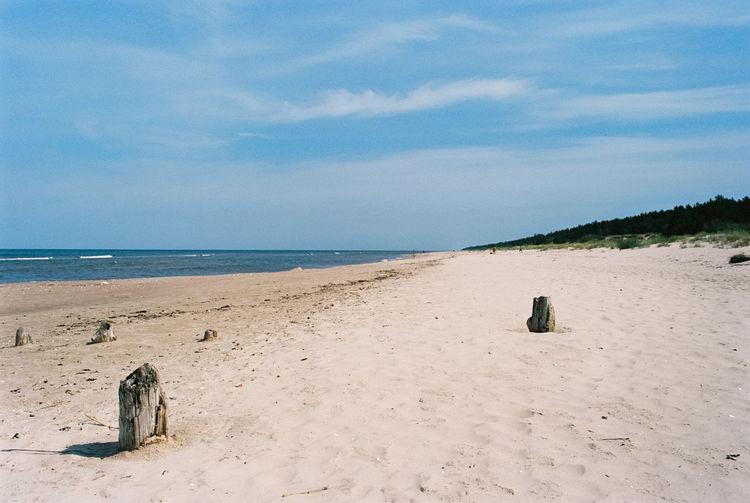 Empty beach in