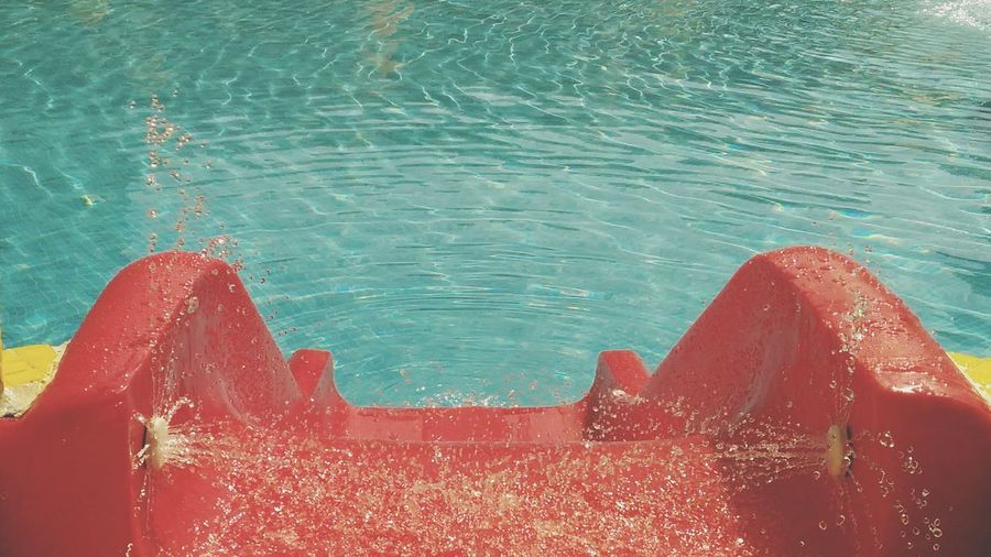 Red Outdoors Water Swimming Pool Vacations Close-up Swimming Pool Water Red Water Slide Water Slide Water Surface Red Sommergefühle 100 Days Of Summer EyeEm Selects
