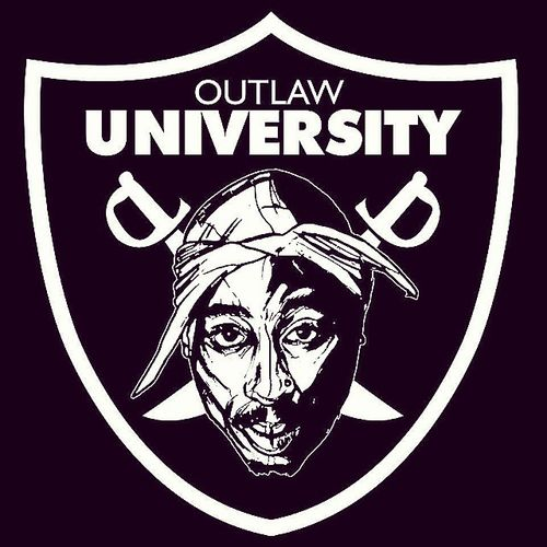 Outlaw University. Master Arts in Rebellious Order. That would be dope for a course in this kinda university. Rebel Tupac OutLaw OutlawUniversity SleezyTurnsXXV .