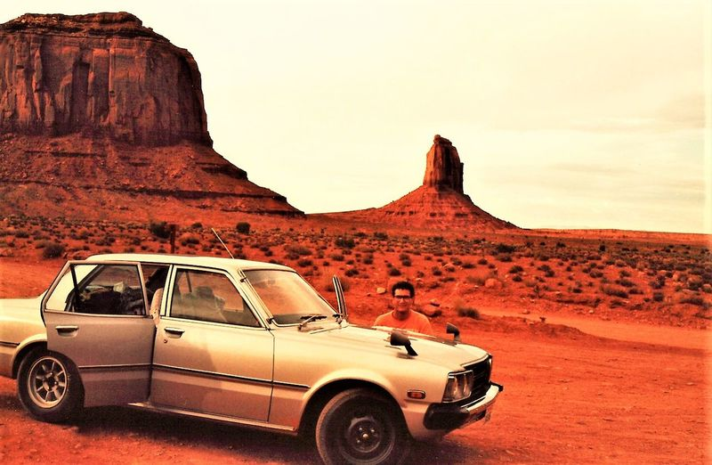 Car Day Desert Monument Valley Mountain Nature Old Toyota Outdoors Scenics Transportation Travel Destinations Travelphotography