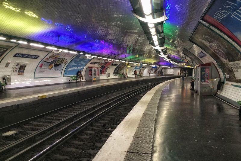 Tourists Destination Lights Inside Subway Station
