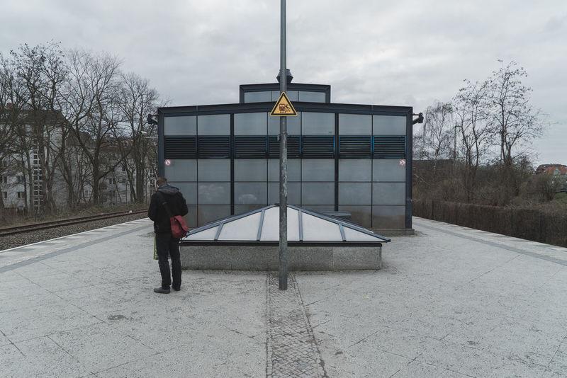 Architecture Berlin Berliner Ansichten Built Structure City Grey Grey Sky Train Train Station Transportation Waiting For A Train