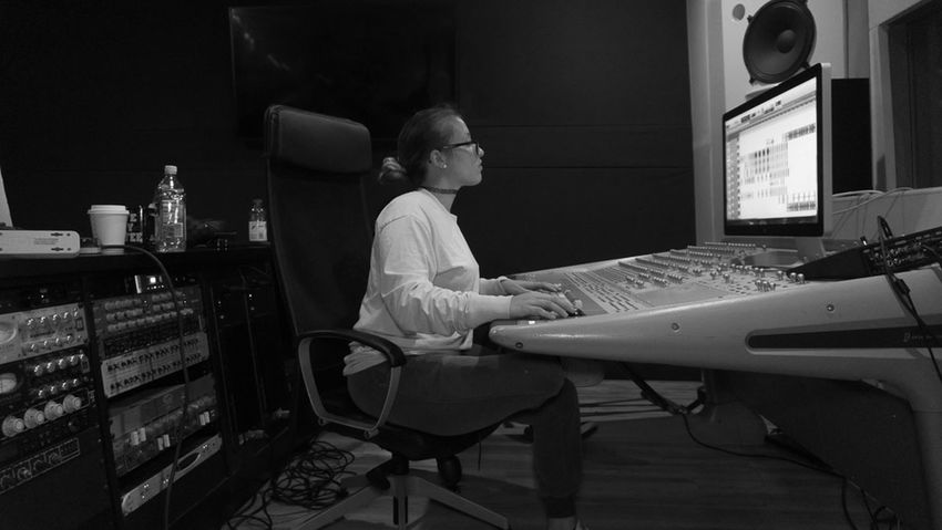 #Artist #EyeEm #MusicianLife #WomeninBusiness #blackandwhite #engineering #mixing #music #sound Engineer #sound Engineer Mixer #sound Recording Equipment #youngwoman Computer Keyboard Computer Monitor Day Full Length Indoors  Keyboard One Person Real People Recording Studio Technology Modern Workplace Culture