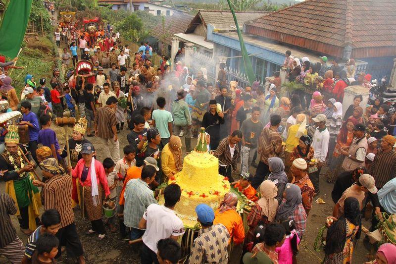 Villagers Celebrating Grebeg Besar Demak