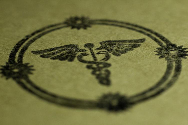 Blur Caduceus Close-up Indoors  Macro No People Seal Secret Society Stamp