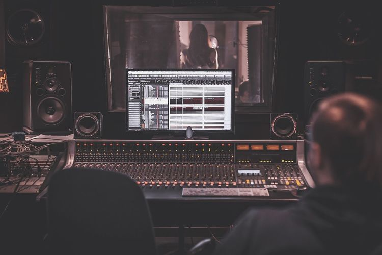 recording studio, mixing, mastering, audio Singing EyeEm Selects Audio Equipment Music Sound Mixer Technology Sound Recording Equipment Studio Recording Studio Arts Culture And Entertainment Indoors  Men Computer People Mixing Adult Computer Equipment Equipment Rear View Producer Audio Electronics EyeEmNewHere