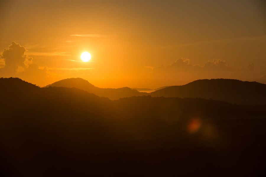 Astronomy Beauty In Nature Dambulla Day Idyllic Landscape Lion Mountain Mountain Range Nature No People Outdoors Pidurangala Rock Scenics Silhouette Sky SriLanka Sun Sunrise Sunset Tranquil Scene Tranquility