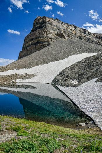 Emerald lake on mount timpanogoes
