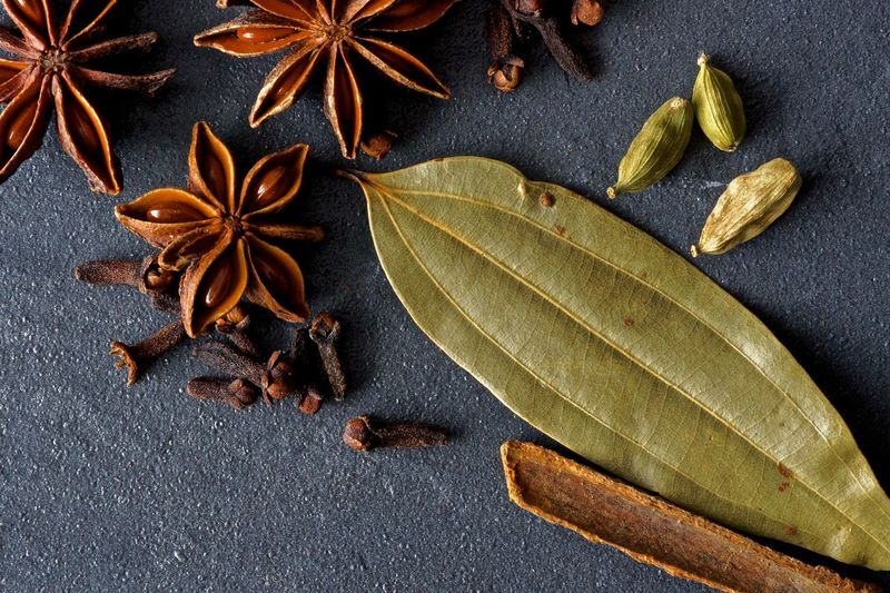 Asian  Bay Leaf Card Close Up Close-up Cloves Dry High Angle View Indian Leaf Macro Spices Star Anise