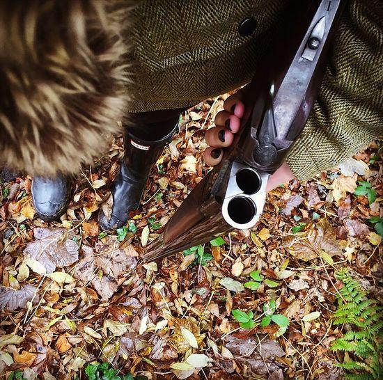 Standard Saturday shoot Shooting Shotgun 12guage Leaves Crisp Autumn Tweed