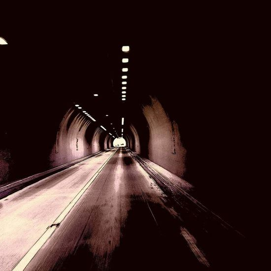 Tunnels EyeEmNewHere Outdoors Tunnelvision Disappear Truckerlife West Tunnel 18 Wheeler Life Cradle  Mountains Fun The Way Forward Illuminated Built Structure Road No People Architecture Night