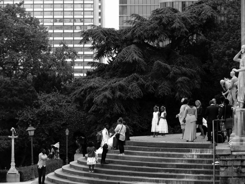 Bridesmaids Spotlight. Candid Photography Rehearsal Bridesmaids Bnwphotography Outdoors Marriage  Wedding Architecture People Together Statue Nature The Way Forward Tree Black And White Lifestyles Perspective Garden Cityscapes Hidden Gems  43 Golden Moments Stairways