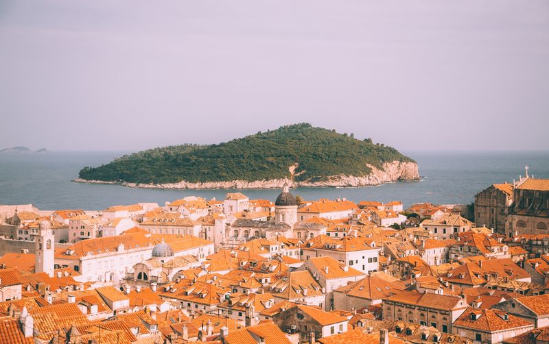 Dubrovnik Building Exterior Architecture Sea Built Structure Water Outdoors High Angle View Town Clear Sky No People Horizon Over Water Roof Day Old Town Residential Building Sky Travel Destinations Nature Travel EyeEmPaid EyeEm Selects Croatia Dubrovnik