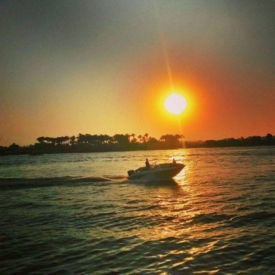 Corniche Maadi Nile River sunset summer2014