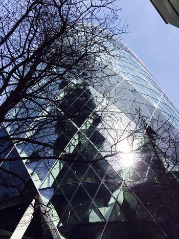 Shiny Gherkin London Gherkin Building Glass Reflection Architecture