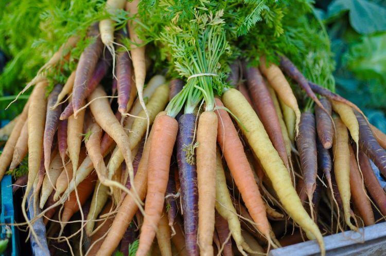 Abundance Bunch Carrots Close-up Day Food Food And Drink Freshness Green Color Healthy Eating Karotten Market No People Outdoors Retail  Vegetable