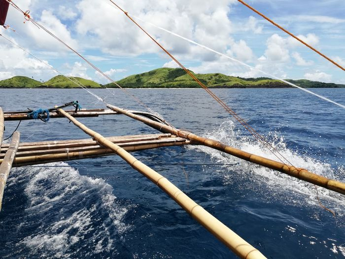 Enroute to Calaguas EyeEm Selects Yachting Sailing Ship Water Nautical Vessel Boat Deck Sailing Yacht Sea Sailboat Rigging Wooden Raft Ship's Bow Water Vehicle