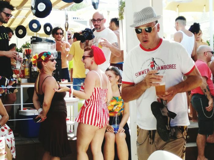 Summer Jamboree! Photo By  Bruce Finestra Alias Daniele Pedone All Rigths Reserved Urban Fashion Jungle Friendship Party - Social Event Togetherness Young Women Standing Celebration Fun Bikini Bikini Bottom Beach Party Music Concert
