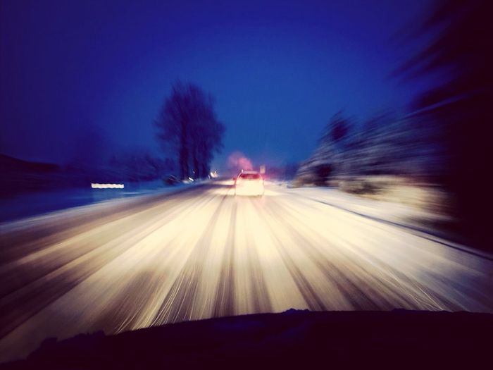 Snow Car Blurred Visions Speed