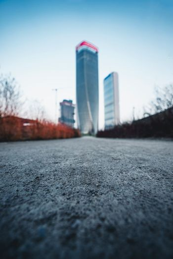 Built Structure Architecture Building Exterior City Sky No People Day Direction Outdoors Skyscraper The Way Forward Tall - High Surface Level Selective Focus Office Building Exterior Transportation Nature Road Building Street