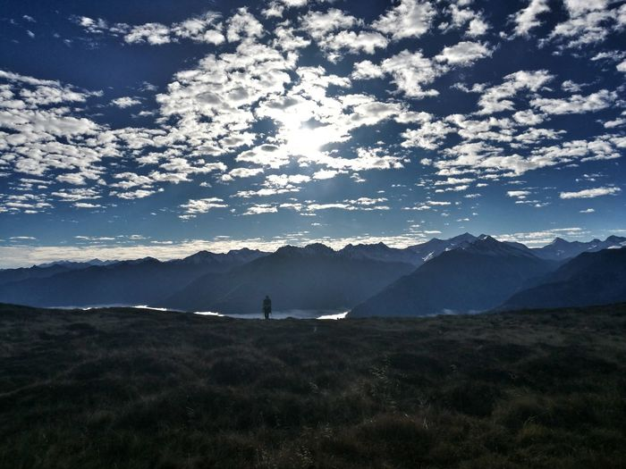 Landschaft Wanderlust Mountain Mountain Range Landscape Hiker Hiking