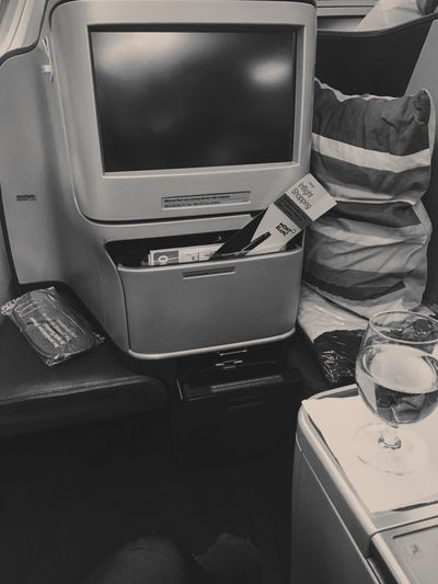 Vehicle Interior No People Indoors  Technology Airplane Business Class Lufthansa Lufthansa A380 Plane