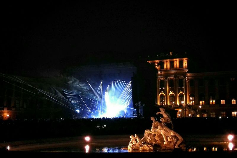"""David Gilmour on """"Rattle that lock"""" tour in Vienna. Just amazing that mixture of breath taking live performance and historical architecture. David Gilmour Live Music Open Air Schonbrunn Palace Breathtaking Nowicandie Music Architecture Historical Show The Mix Up Showcase June Been There."""